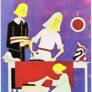 K_Die hl. Familie beim Bügeln - Eugen Viehmann