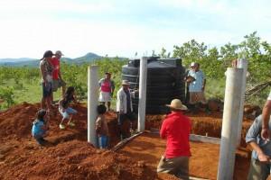 Bau eines Trinkwassertanks