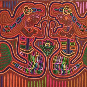 K_Meerjungsfrauen - Mola des indigenen Stamm Kuna Yala