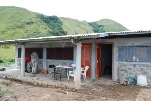 Der Kindergarten in Piedra de Fogón kurz vor seiner Fertigstellung.