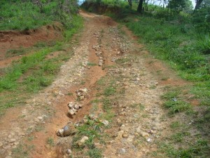 Die Straße in das Dorf